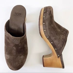 UGG Australia Abbie Brown Suede Clog 5772 Size 7